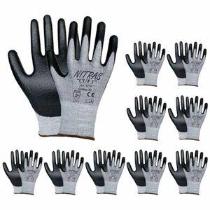 NITRAS 6350 CUT 3 Schnittschutzhandschuhe Arbeitshandschuhe Handschuhe - 10 Paar Größe:9