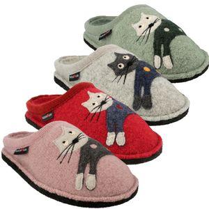 Haflinger Damen Hausschuhe Pantoffeln Flair Cucho 313080, Größe:38 EU, Farbe:Grau