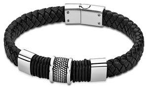 Lotus Style Armband LS2037/2/3 Edelstahl Leder schwarz