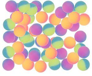 20 x Flummi 27mm Flummis Spring Hüpf Ball Mitbringsel Tombola Regenbogen Frosted