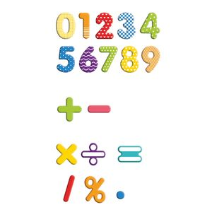 EDUPLAY 120508 Magnet-Ziffern in Box, 90-teilig (Farbe zufällig, 1 Set)