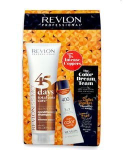 Revlon Revlonissimo 45 Days Set - Intense Coppers 275 ml + Revlon Nutri Color Mandarine 400 50 ml