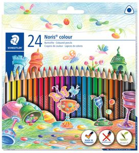 STAEDTLER Dreikant-Buntstift Noris colour 24er Kartonetui
