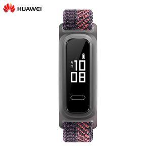 HUAWEI Band 4e Smart Armband 2 Trage-Modi Smart Timer BT 4.2 Erinnerung an eingehende Anrufe 5ATM Wasserdichte Smart Watch Kalorien Alarm Multifunktionale Armbanduhr