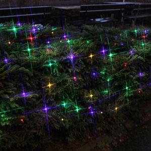 LED Lichternetz - Serie LED - 180 bunte LED - 3m x 3m - schwarzes Kabel - für Außen