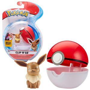 Spielfigur mit Pokeball zur Auswahl | Pokemon | Clip N Go | Action-Figuren, Spielfigur:Evoli