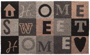 """Betz Kokosmatte Fußmatte Fußabstreifer Schmutzfangmatte """"HOME SWEET HOME""""   Größe 45x75cm"""