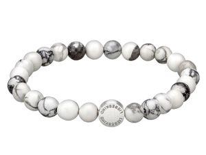 LIEBESKIND LJ-0026-B-17 Damen Armband Edelstahl Silber Weiß 17 cm