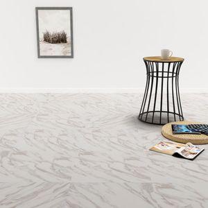 PVC Laminat Dielen Selbstklebend 5,11 m² Weißer Marmor