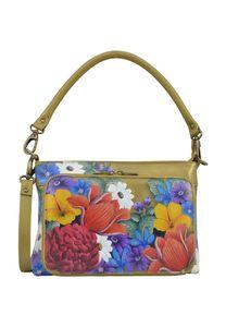 Anuschka Damen Schultertasche Dreamy Floral (handbemaltes Leder)