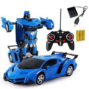 2 in 1 1:18 Transformer Auto Rennauto Roboter mit Fernbedienung Kinder Spielzeug Transformers Toys  Fernbedienung