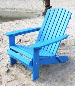 DanDiBo Strandstuhl Holz Blau Gartenstuhl klappbar Adirondack Deckchair Liegestuhl