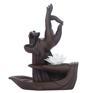Kegel Räucherstäbchenhalter  Buddha Lotus  Weihrauchschale  Weihrauchfass Lotus-Stil wie beschrieben