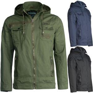 Trisens Herren Baumwolle Jacke Übergangsjacke, Farbe:Dunkelblau, Größe:M
