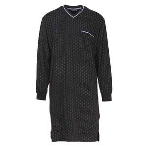 GÖTZBURG Damen Nachthemd - Nightshirt, V-Ausschnitt, Pure Baumwolle Marine XXL