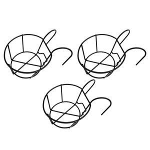 3 Stück Hochleistungs hängendes Geländer Pflanzgefäß Blumentopf