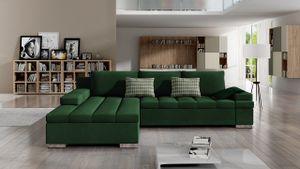 Mirjan24 Ecksofa Bangkok, Stilvoll L-Form Sofa mit Schlaffunktion und Bettkasten, Wohnlandschaft (Manila 35 + Senegal 823, Seite: Links)