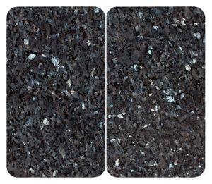 Herdabdeckplatte Herdabdeckung Universal Blauer Marmor
