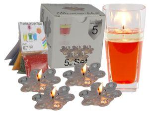 5x Kerzen selber machen mit Salatöl transparent