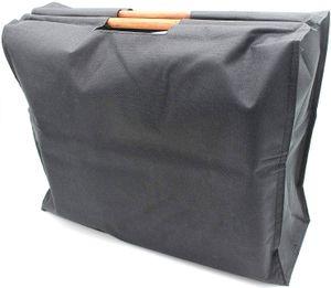 Trendy Shopper Einkaufstasche mit Holzgriffen Schwarz
