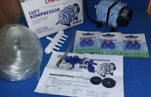 19 Teilig Teichbelüftungs Set LK35 komplett System 19 teilig Winter Eisfreihalte