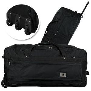 XXXL Reisetasche 182L  Trolleytasche mit 3 Rollen schwarz