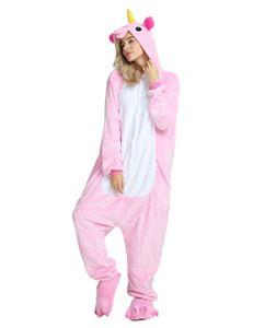 Einhorn Pyjama Kostš¹m Jumpsuit Karneval Cosplay Karton Flanell Erwachsene Schalfanzug Unisex