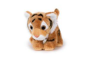 Plüschtier Tiger braun,  13cm, Stofftier Kuscheltier Raubkatze Softplüsch