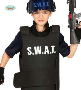 Fiestas Guirca kugelsichere Weste SWAT junior Polyester schwarz Einheitsgröße