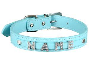 scarlet pet | Hundehalsband »My-Name« inkl. 5 Strass-Buchstaben; mit Namen ihres Hundes personalisierbar; zusätzliche Buchstaben bestellbar, Größe:(M) 38 cm, Farbe:Türkis