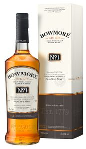 Bowmore No. 1 Islay Single Malt Scotch Whisky in Geschenkpackung | 40 % vol | 0,7 l