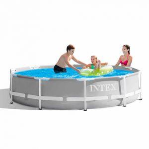 Intex PrismFrame, 4485 l, Gerahmter Pool, Erwachsener & Kind, Grau, 20,1 kg
