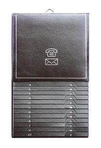Herlitz Telefonregister A-Z / Telefonbuch / Größe: 13,5 x 21cm / Farbe: schwarz