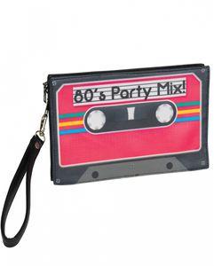 80er Jahre Retro Kassetten Handtasche für Fasching & Motto Party