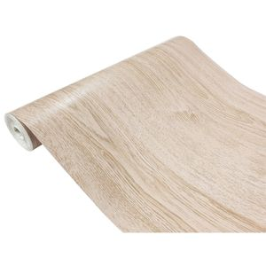 DecoMeister Klebefolie in Holzoptik Möbelfolie Selbstklebende Holzfolie Deko-Folie Holzdekor Selbstklebefolie 45x100 cm Latte-Eiche