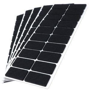 100 x Filzgleiter | 20x40 mm | Schwarz | rechteckig | 3.5 mm starke selbstklebende Filz-Möbelgleiter in  von Adsamm®
