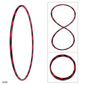 Bunter Hula Hoop Reifen, faltbar, Ø100cm Schwarz-Rot