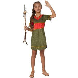 dressforfun Mädchenkostüm Kleine Mohikanerin - 128 (7-8 Jahre)