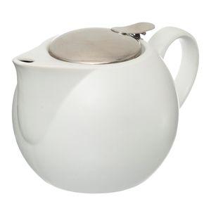Teekanne mit Sieb 750 ml weiß - Secret de Gourmet, Farbe:weiß