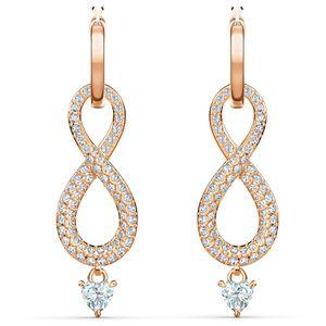 Swarovski Ohrringe 5512625 Infinity, weiß, Rosé vergoldet
