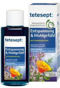 Tetesept Entspannung & Wohlgefühl Lavendel Baldrian Goldmohn Baden Pflege Erholung  125 ml.