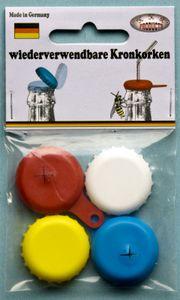 Flaschenverschluß-Set Kronkorken, 4-teilig