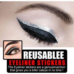 Eyeliner Aufkleber Doppel Eyelid Tape Glitter Eyeliner Lidschatten Aufkleber Eye Makeup Tool