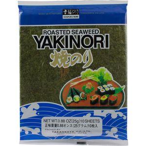 Yaki Nori Seealgenblätter geröstet für Sushi Takaokaya 25g 2er Pack