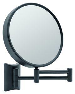 Libaro Kosmetikspiegel Imola 360° Schminkspiegel schwarz Wandmontage Rasierspiegel zweiseitig Vergrößerung (3x / 7x)