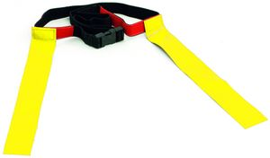 Precision tag Gürtel Rugby verstellbares Polyester gelb/schwarz