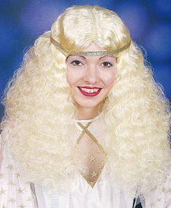 Damen Perücke Christkind zum Engel Kostüm an Weihnachten blond