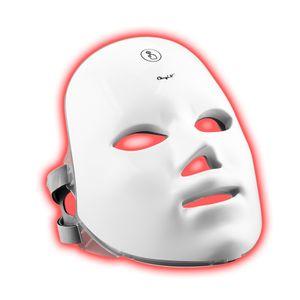 CkeyiN LED Gesichtsmaske Touchscreen-Schalter Lichttherapie Photonen 7 Farbe Wiederaufladbar Hautverjüngung Maske für Gesicht Anti-falten Akne