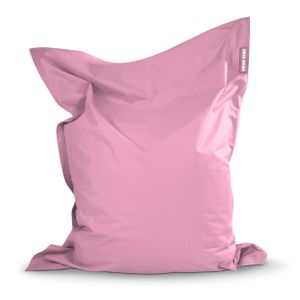 Green Bean © SQUARE XXL Riesensitzsack 140x180 cm - Indoor & Outdoor Sitzsack - Bean Bag Chair für Kinder & Erwachsene - Rosa