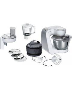 Bosch MUM58227Küchenmaschine weiß/silber, Farbe:Weiß-Silber
